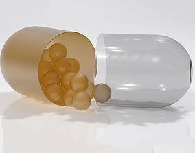 omega pill 3D model