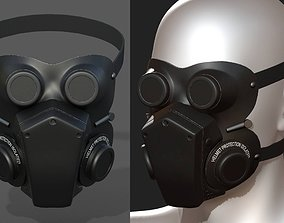 Mask helmet protection isolated scifi military 3D model