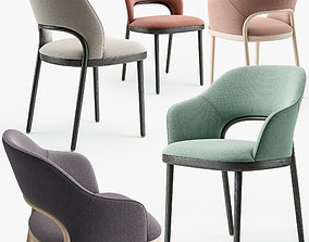 3D model Thonet 520 chair set