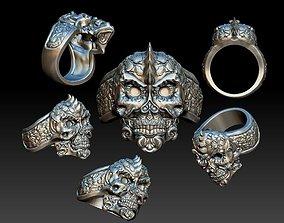 3D printable model Detailed Skull Ring