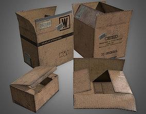 3D asset GEN - Cardboard Boxes Set 1 - PBR Game Ready