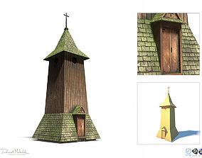 3D model Belfry -Slav Architecture