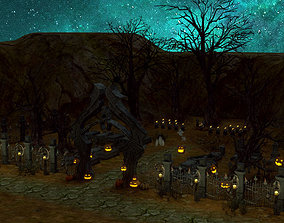 Halloween Graveyard 3D model
