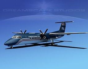 3D DeHavilland DHC-8-Q300 Freedom Air