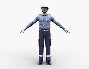 3D model Airport Staff