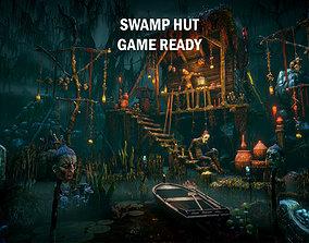 3D asset Swamp hut