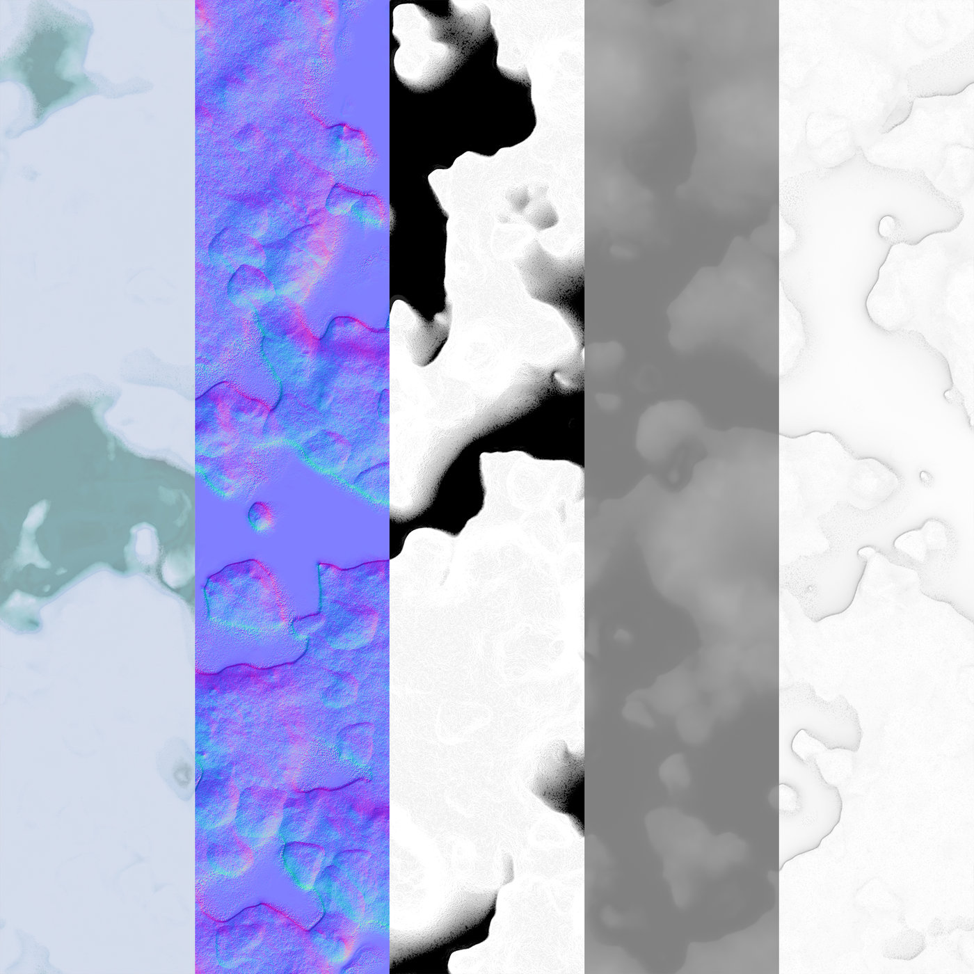 Melting Snow PBR Material