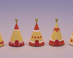 3D asset Indian Teepee