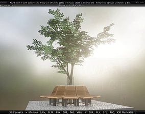 3D model Round Bench 7 with Citytree and