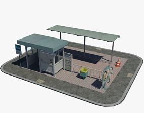 Japanese Bus Stop 3D asset