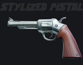 Stylized Pistol - Game Asset game-ready