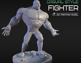 Casual style fighter 3D printing model