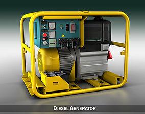 Diesel generator industrial 3D