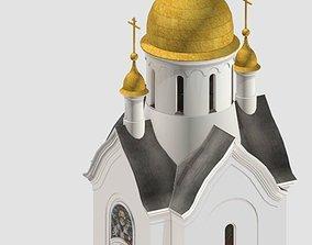 orthodox chapel 3D asset