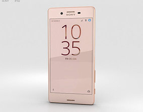 electronics 3D model Sony Xperia X Performance Rose Gold