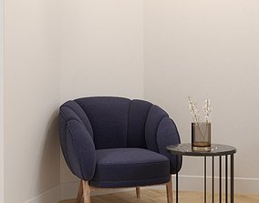 Lounge chair - Scandinavian style - Photorealist- 3D model