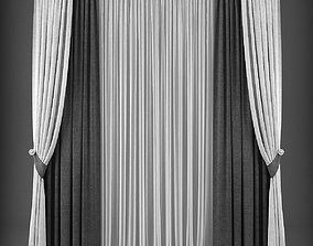 Curtain 3D model 214 low-poly