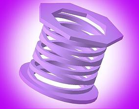 Spring 3D print model