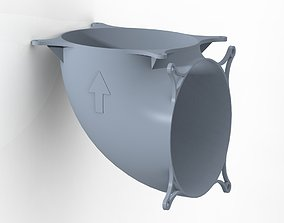 90 degree airflow bender for 12cm PC 3D printable model 1