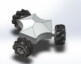 Mecanum wheel robot 3D printable model