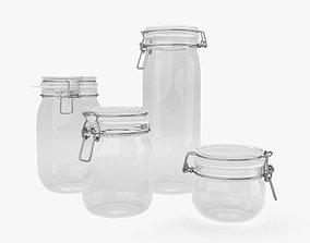 plates 3D model Glass Jar