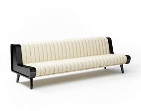 3D model White And Black Leather Sofa