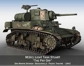 3D model M3A1 Light Tank Stuart - The Pay Off wwii