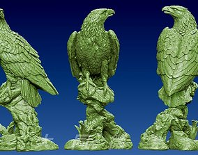The Eagle 3D Model STL file relief for CNC Furniture