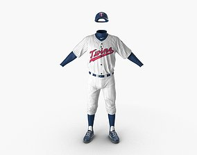 3D model Baseball Player Outfit Twins 2