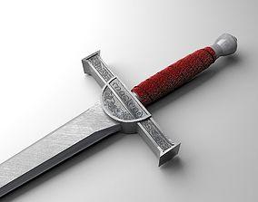3D asset Highlander sword