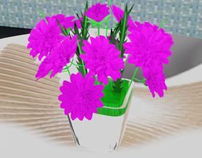 entire 3D asset low-poly Flower Vase