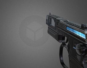 3D asset Futuristic Pistol