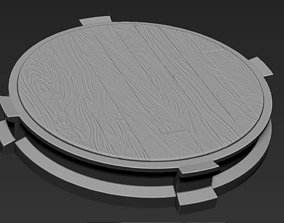 3D printable model Decorative Wooden Base Stand for