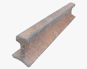 Metal Rail Piece 3D asset