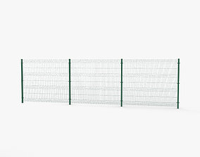 Mesh Panel Fence 3D