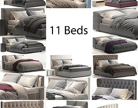 Bed Colection 2 - 11 itemns 3D