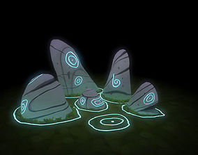 3D asset low-poly Magical Stone