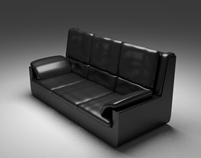 Leather Sofa 3D animated