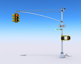 Traffic Lights 3D asset low-poly