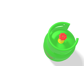 3D model oil container bright gas