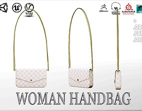 3D asset Woman Handbag Louis Vuitton