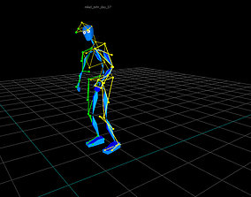 3D model animated stiff arm