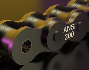 STANDARD ROLLER CHAIN - ANSI 200 3D printable model