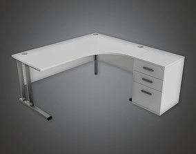 BHE - Bank Office Desk - PBR Game Ready 3D asset