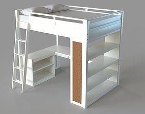 3D Sleep Study Loft Bed