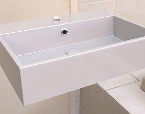 household 3D model Washbasin