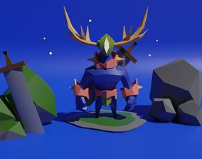 3D Modelo Concept Gardian del bosque