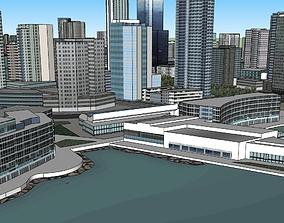3D model Urban centre- waterfront precinct- urban design