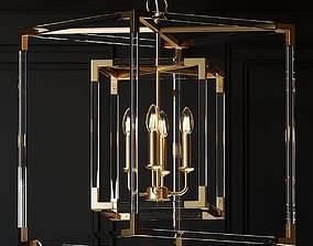 3D Ballard Designs Phoebe Acrylic Chandelier