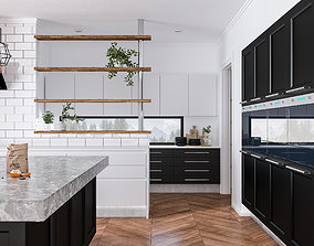 3D Kitchen Large with Island